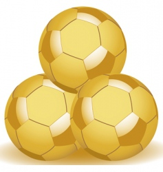golden balls vector image