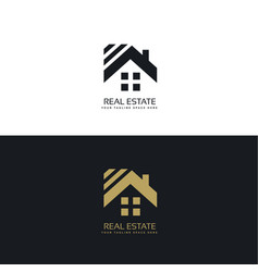 Elegant logo for real estate industry vector