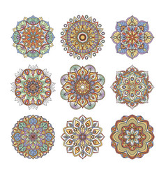 Chinese and indian floral pattern color indian vector
