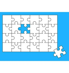 Puzzle almost solved vector