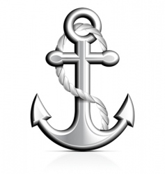 Anchor and rope vector
