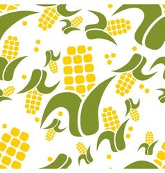 Corn seamless pattern vector