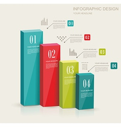 Modern infographics set Diagram and Time Line vector image