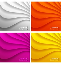 Set of colorful wavy backgrounds vector