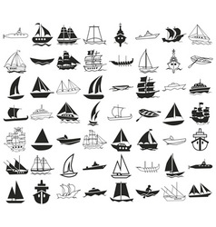 Ships icons on white vector