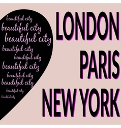 London paris ny t-shirt 2 vector