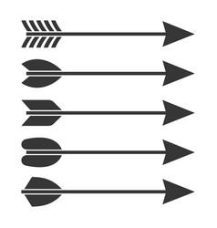 arrows icon set vector image vector image