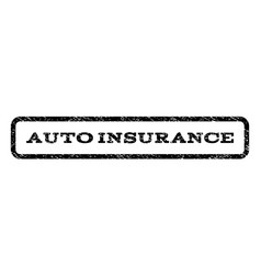 Auto insurance watermark stamp vector