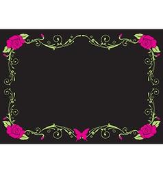 Black vintage frame vector image