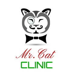 Cat clinic vector