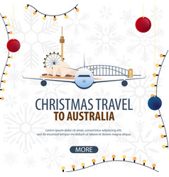 Christmas travel to australia winter travel vector