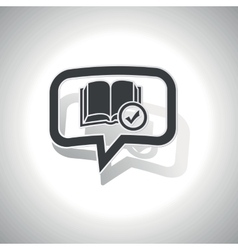 Curved select book message icon vector