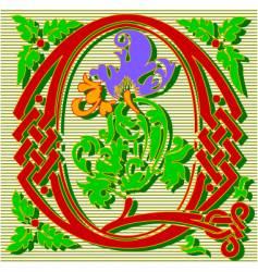 decorative letter Q vector image