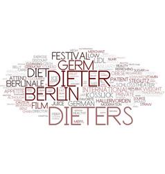 dieters word cloud concept vector image vector image