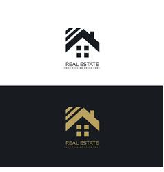 Elegant logo for real estate industry vector