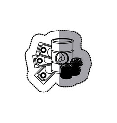 gasoline tanks with money icon vector image vector image