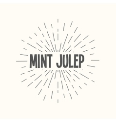 Hand drawn sunburst - mint julep vector