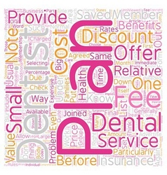 How And Why Discount Dental Plans Work text vector image vector image