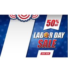 labor day sale background design vector image