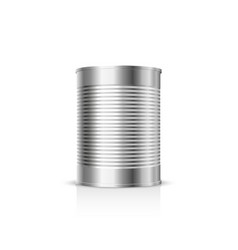 metal can on a white background vector image