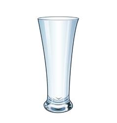 Modern empty drinking glass vector