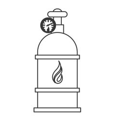 natural gas tank icon vector image