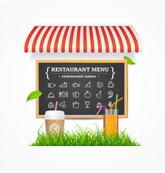 Restaurant menu concept vector