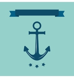 Sea anchor logo vector image vector image