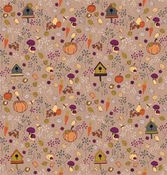 Seamless autumn pattern vector