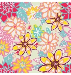Seamless floral backgroundIsolated flowers and vector image vector image