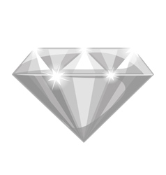 shiny diamond icon vector image