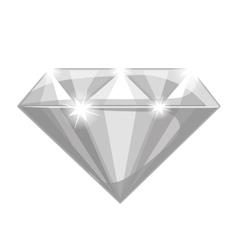 Shiny diamond icon vector