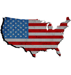 Usa grunge map with flag inside vector