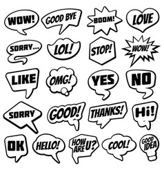 Vintage speech bubble with internet chat dialog vector