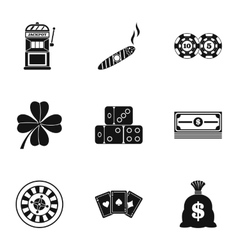 Win icons set simple style vector
