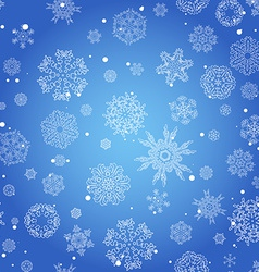 Winter seamless texture with snowflakes vector image