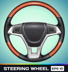Realistic steering wheel vector