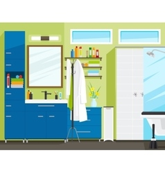 Bathroom or toilet room interior vector