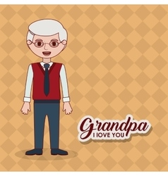 Grandfather grandpa cartoon design vector