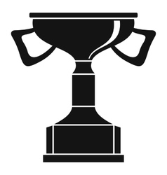 Cup for victory icon simple style vector