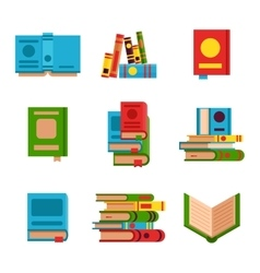 Books set vector image