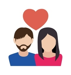 Couple love with heart vector