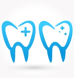 Teeth icon vector image