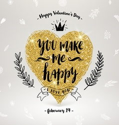 Valentines day hand drawn greeting vector