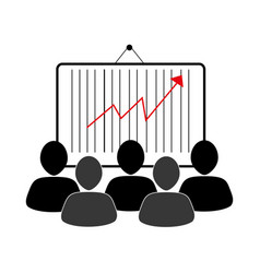 Group of people and economic growth indicator vector