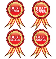 Best seller medals vector image