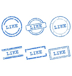 Like stamps vector
