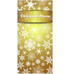 Christmas Snowflake Gold Menu vector image
