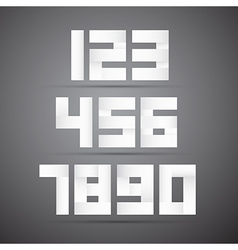 Paper numbers vector
