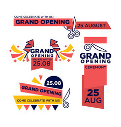 25 august grand opening ceremony bright vector image